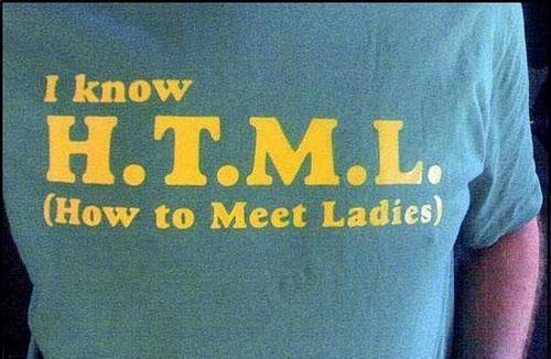 I know HTML very funny