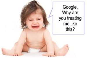 is my website penalized funny baby pic